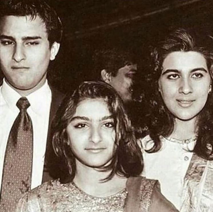 Saif Ali Khan, Amrita Singh and Soha Ali Khan