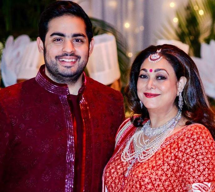 Tina Ambani and Akash Ambani