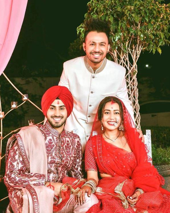 Neha Kakkar, Tony Kakkar and Rohanpreet Singh