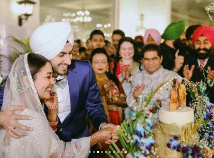 Neha Kakkar Rohanpreet Singh Reception