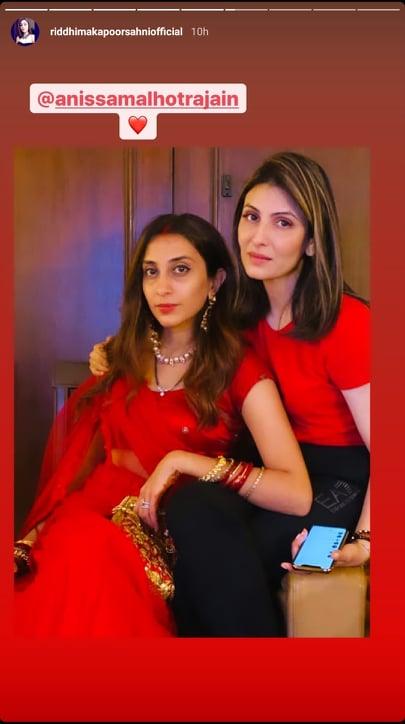 Riddhima Kapoor Sahni and Anissa Malhotra
