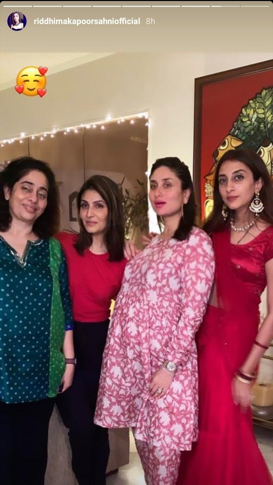 Kareena Kapoor Khan, Riddhima Kapoor Sahni and Anissa Malhotra