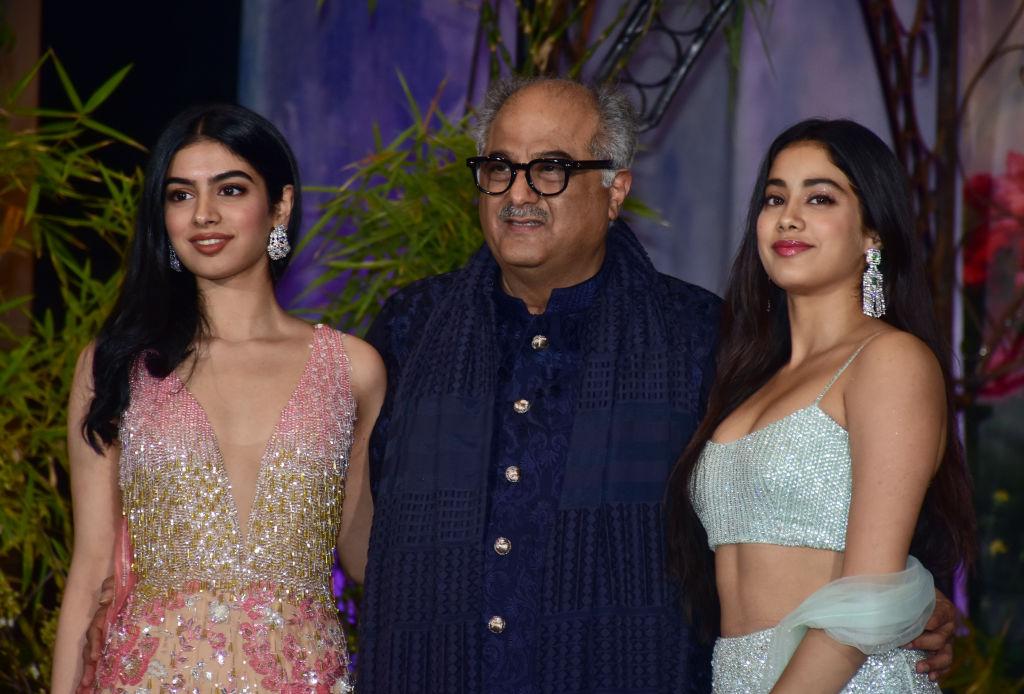Boney Kapoor, Janhvi Kapoor and Khushi Kapoor