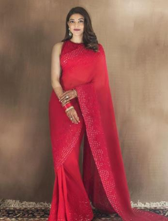 Kajal Aggarwal Karwa Chauth look