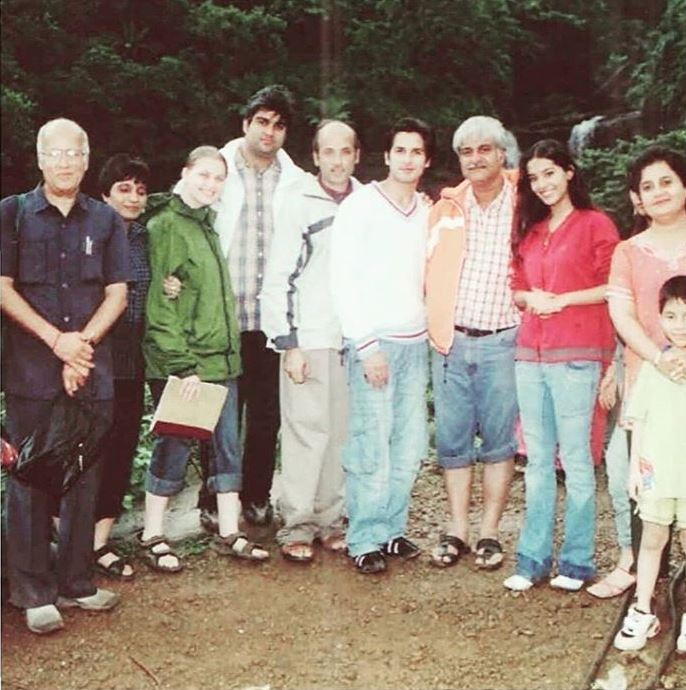 BTS picture from the sets of Vivah