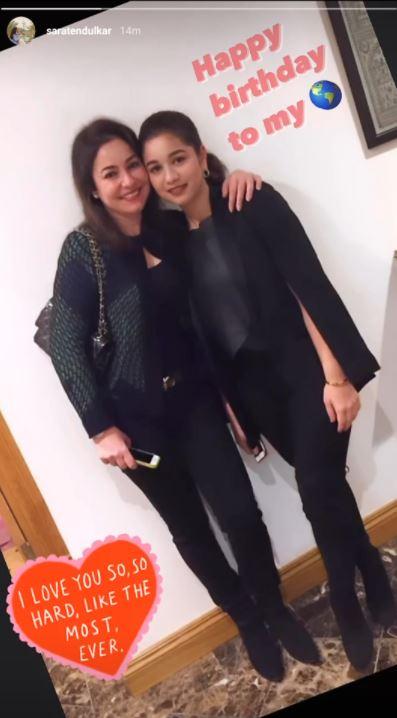Sara Tendulkar and Anjali Tendulkar