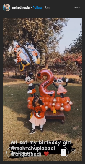 Neha Dhupia Mehr Birthday