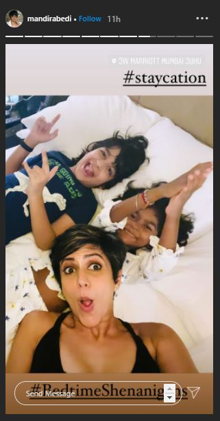 Mandira Bedi Kids
