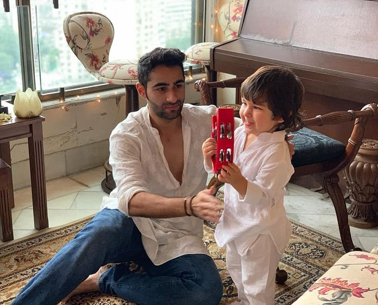 Armaan Jain and Taimur Ali Khan