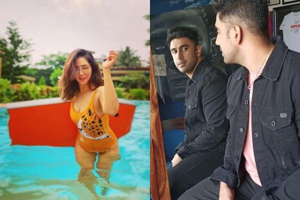 Amit Sadh and Kim Sharma