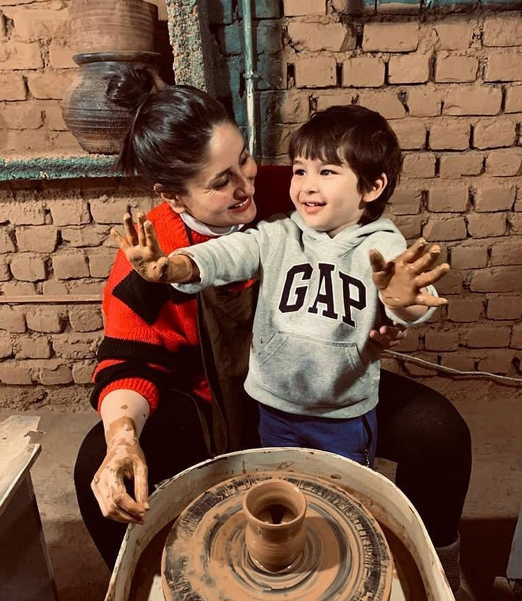 Kareena Kapoor Khan and Taimur Ali Khan
