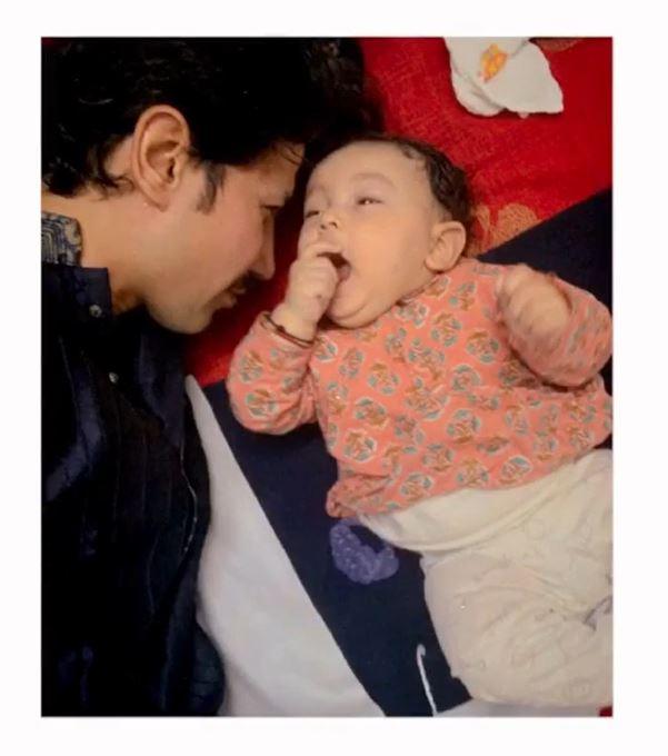 Sumeet Vyas with his baby boy