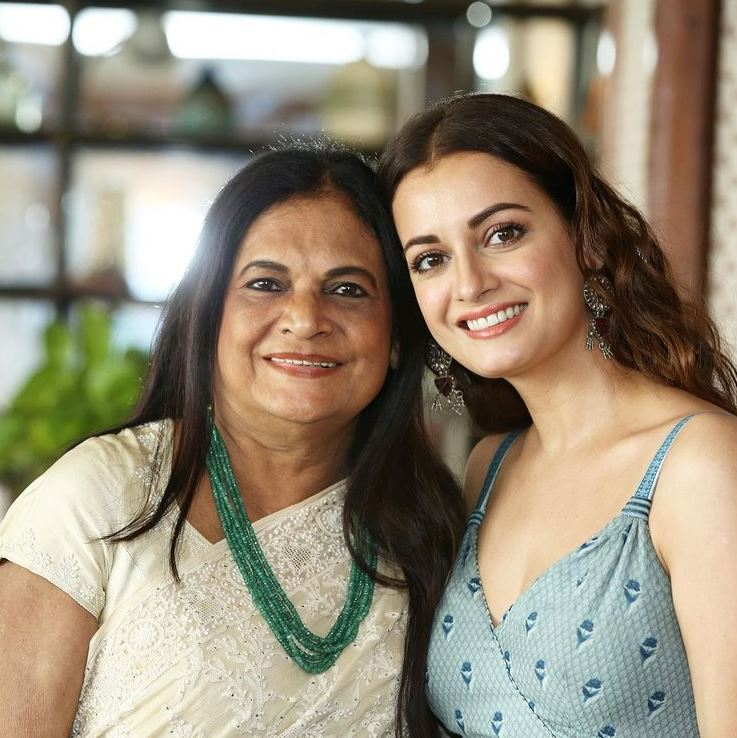 Dia Mirza and Deepa Mirza
