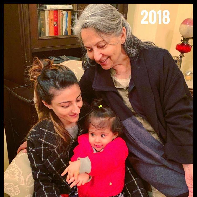 Sharmila Tagore, Soha Ali Khan et Inaaya Naumi Kemmu