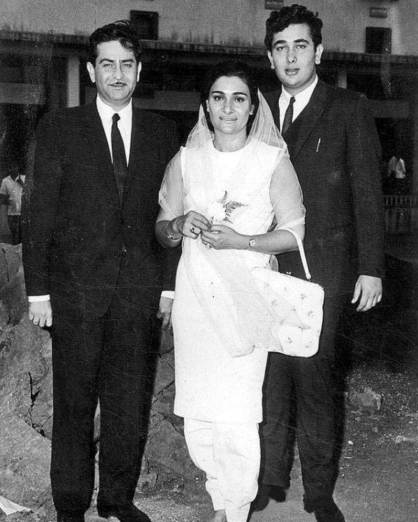 Raj Kapoor, Randhir Kapoor and Babita