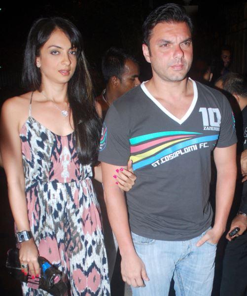 Sohail Khan and Seema Khan