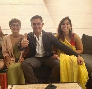 Aamir Khan with his family