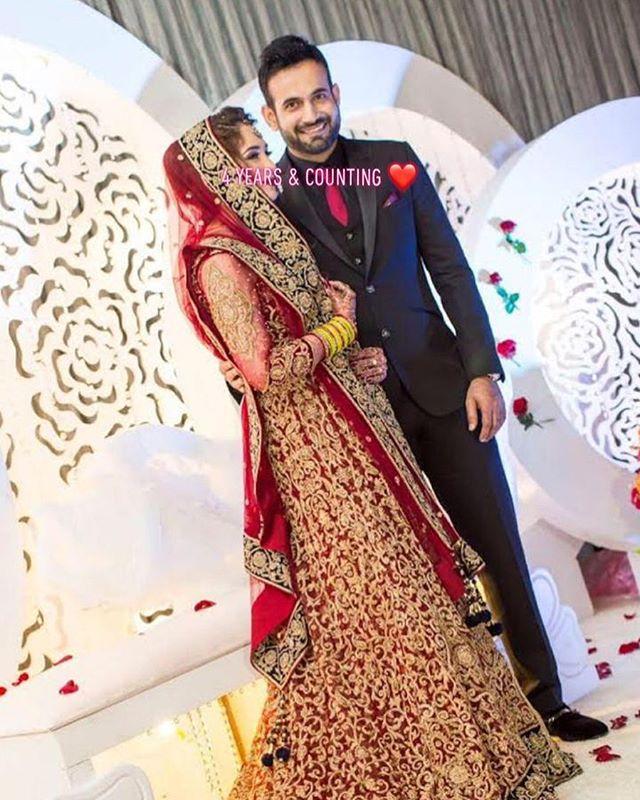 Irfan Pathan and Safa Baig