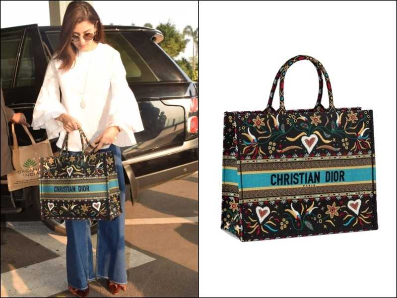 Christian Dior canvas tote bag from Anushka Sharma -