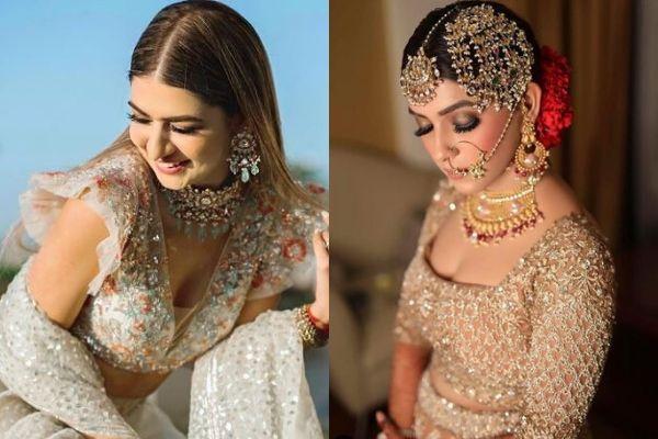 Embellished blouse on real brides