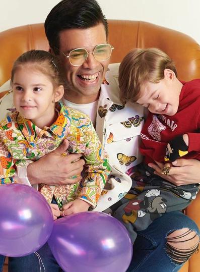 Karan Johar and his kids