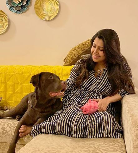 Ankita with her dog
