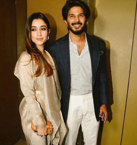 Dulquer Salman and Amal Sufia