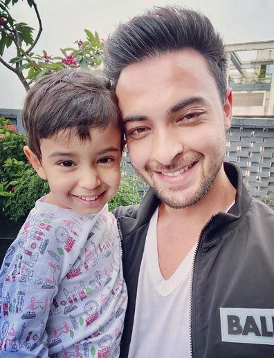 Aayush Sharma and Son Ahil