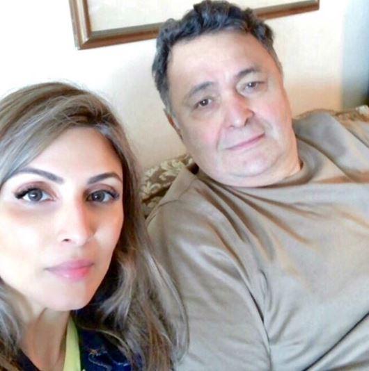 Rishi Kapoor and Riddhima Kapoor