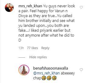 Benafsha Slams Troll