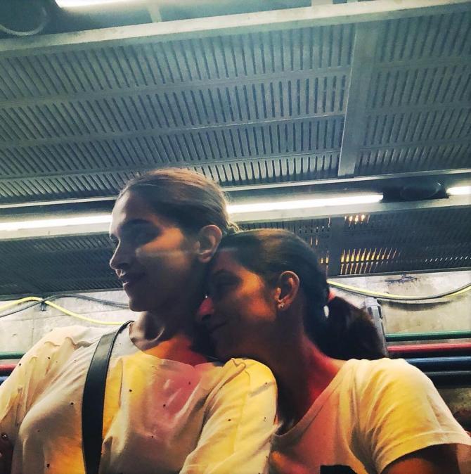 Deeepika Paukone and Anisha Padukone
