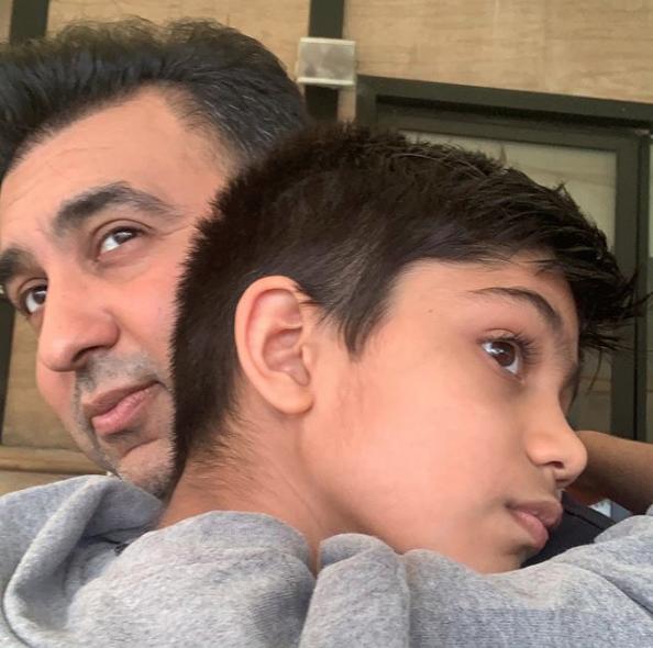 Viaan Kundra and Raj Kundra
