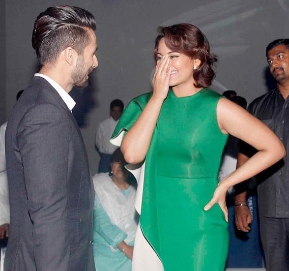 Sonakshi Sinha and Shahid Kapoor