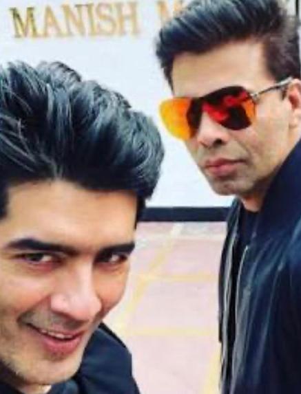 Manish Malhotra and Karan Johar
