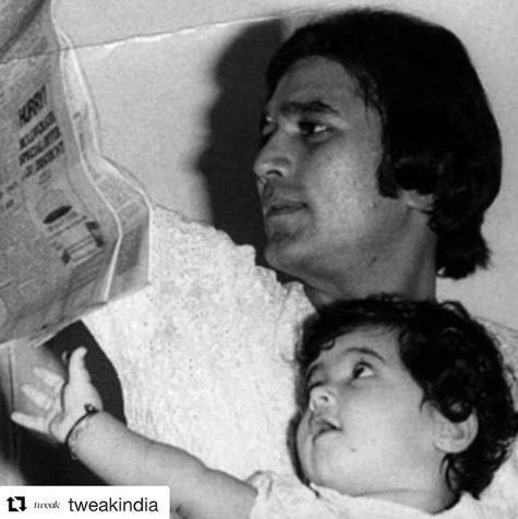 Twinkle Khanna With Rajesh Khanna Childhood