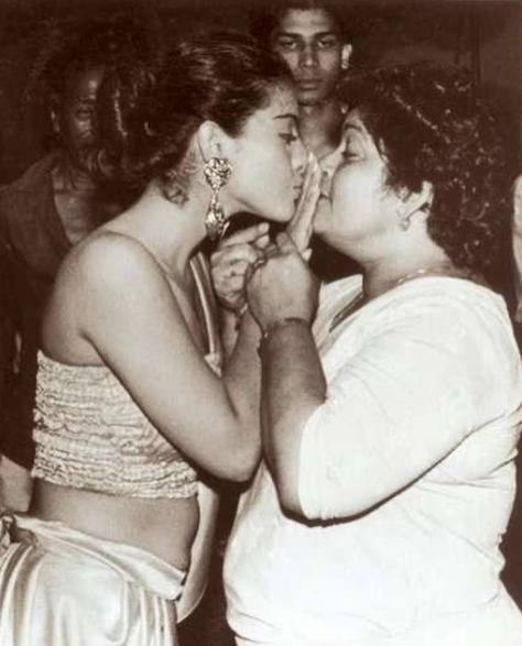 Saroj Khan and Kajol