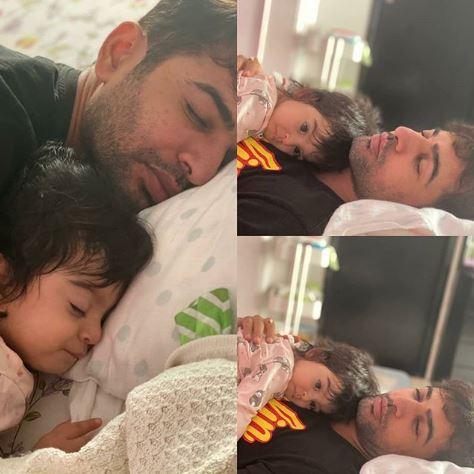 Jay Bhanushali with daughter, Tara