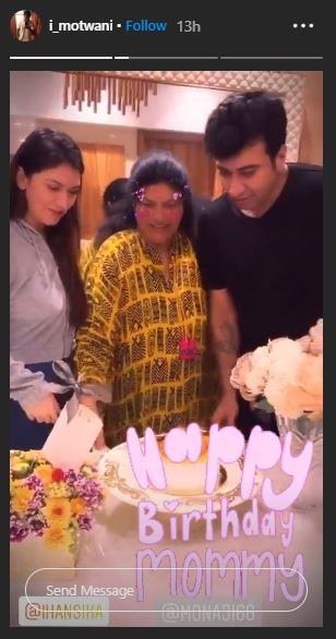 Hansika Motwani Mother Birthday