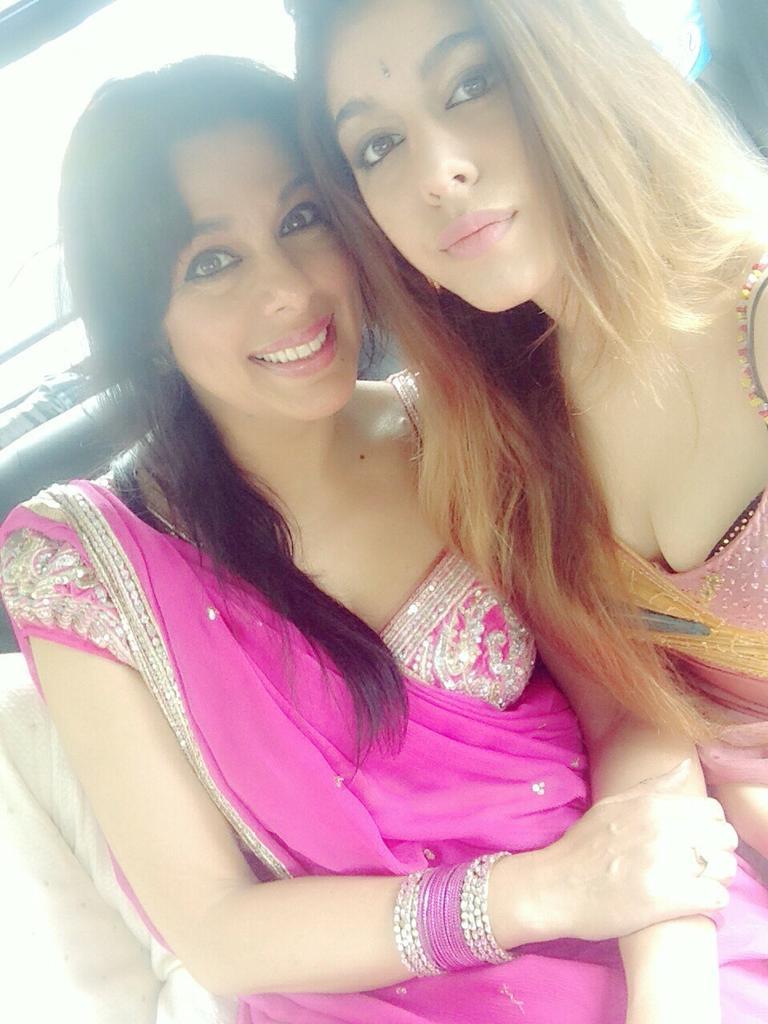 Pooja Bedi and Alaya F