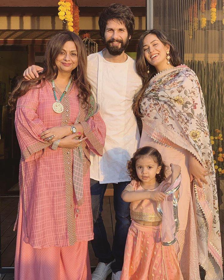 Neliima Azeem, Shahid Kapoor, Mira Rajput Kapoor and Misha Kapoor