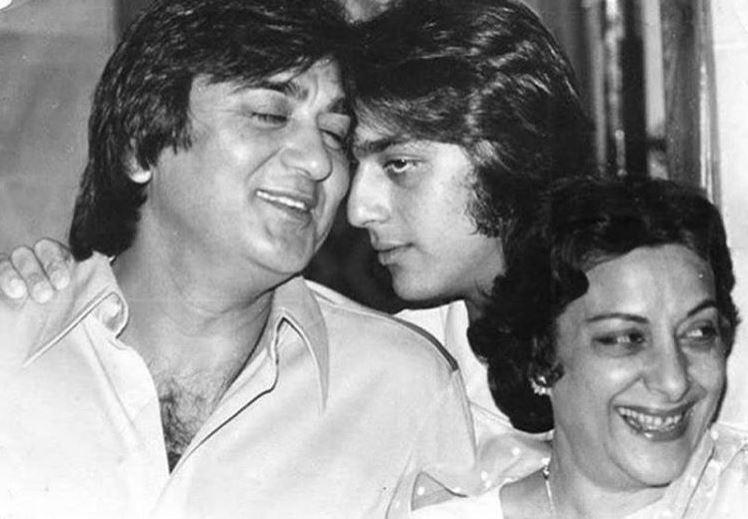 Sanjay Dutt, Nargis Dutt and Sunil Dutt