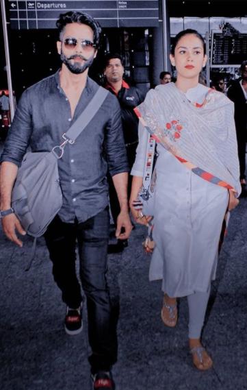 Mira Rajput Kapoor and Shahid Kapoor