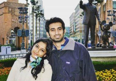 Anjum Farooki with husband