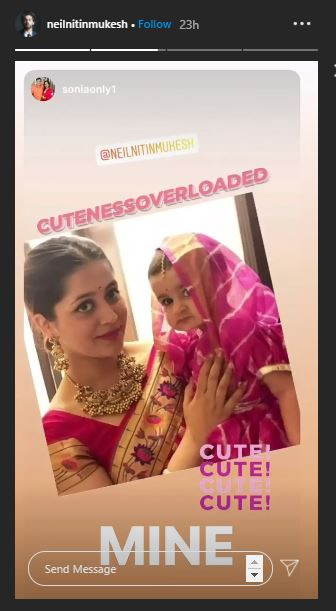 Neil Nitin Mukesh Daughter and WIfe
