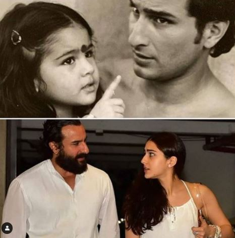 Saif Ali Khan And Sara Ali Khan