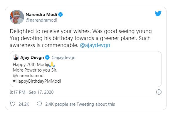 Ajay Devgn and PM Modi