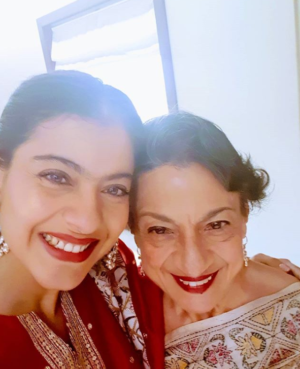 Kajol with her mother