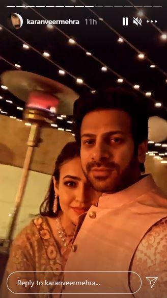 Karan Veer Mehra Fiancee Nidhi Seth Pictures Sangeet Haldi Mehendi Ceremony