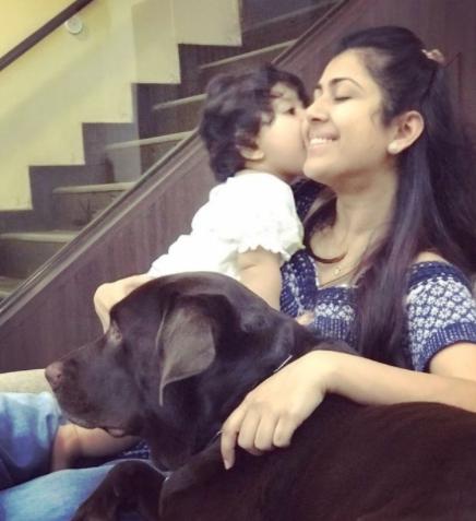 Ankita Bhargava With Daughter