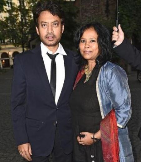 Irrfan Khan with his wife